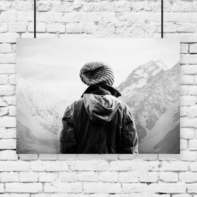 Plakat górski krajobraz