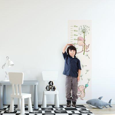 miarka wzrostu dla dzieci z myszką i dmuchawcem