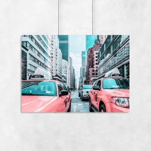 Plakat taksówki Nowy Jork