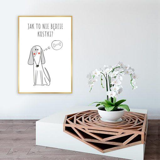 Plakat napis i pies