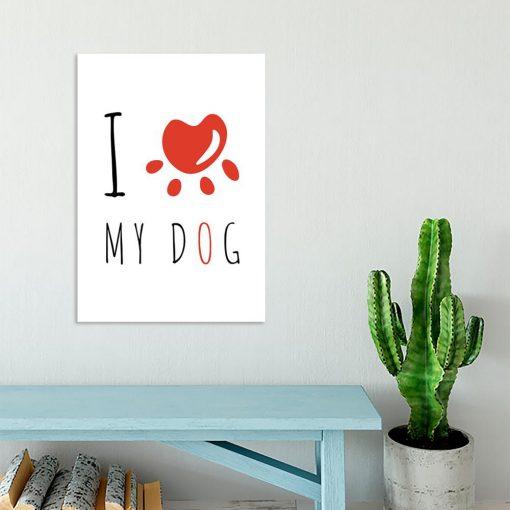 Plakat motyw psa