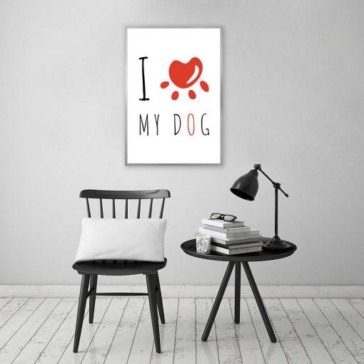Plakat dla miłośnika swojego psa