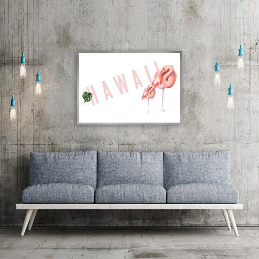 Plakat flamingi