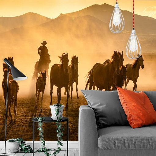 Tapeta biegnące konie