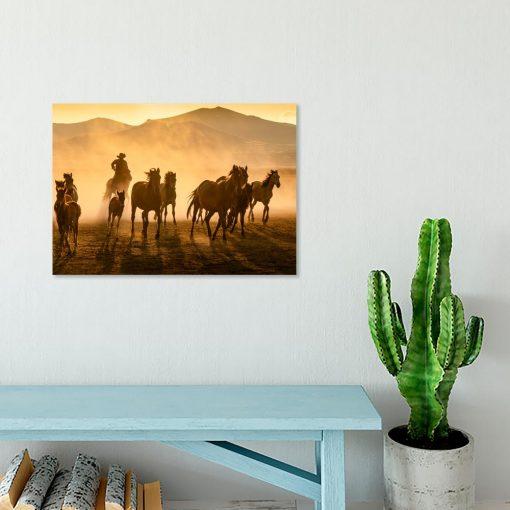 Obraz konie i góry
