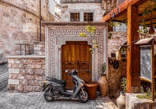 Fototapeta z motywem drzwi