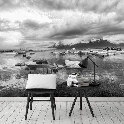 Fototapeta z motywem jeziora i góry