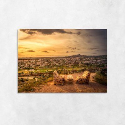 Obraz panorama miasteczka
