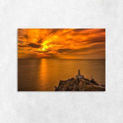 Obraz pomarańczowy z morzem