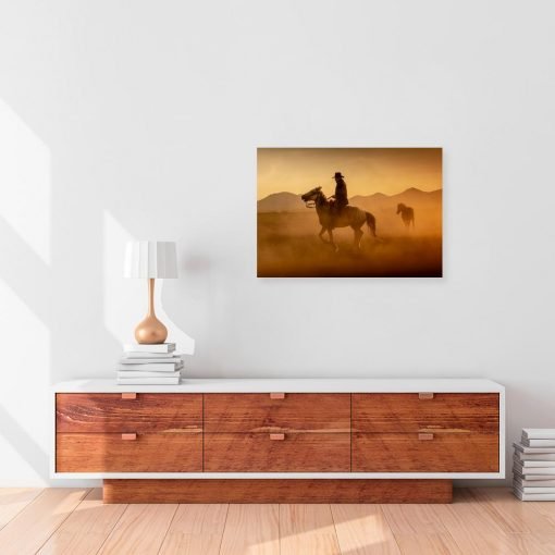 Obraz kowboj na koniu