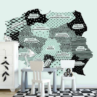 Tapeta z mapą Polski