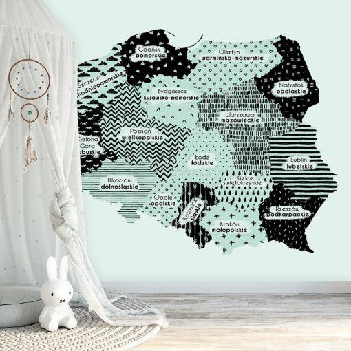 Fototapeta z polską mapą