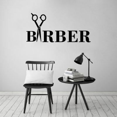 Naklejka ścienna do barber shopu