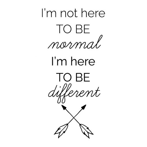 Ornament ścienny Im not here to be normal