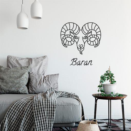 Ornament ścienny z zodiakiem barana