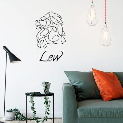 Ornament ścienny znak zodiaku lwa