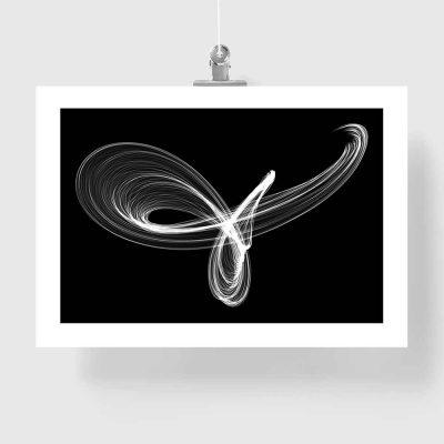 plakat czarno-biały z motywem abstrakcyjnym