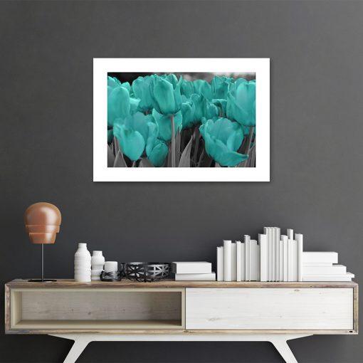 tulipany na plakacie