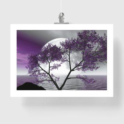 pełnia księżyca i drzewo na plakacie