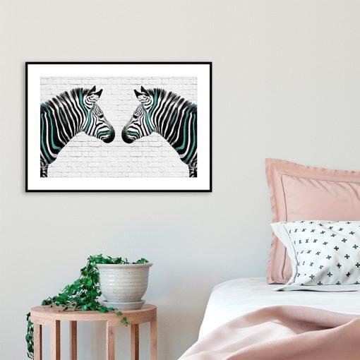 plakat dwie zebry