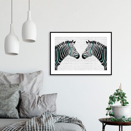 plakat lustrzane odbicie zebry
