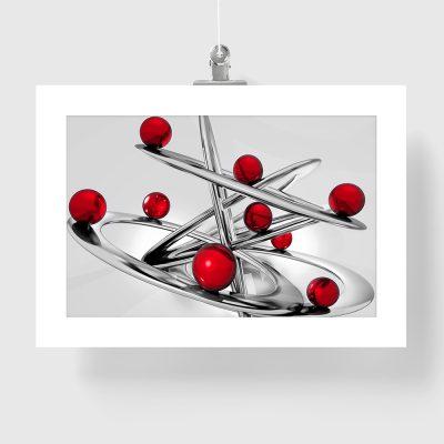plakat z abstrakcyjnym nowoczesnym wzorem