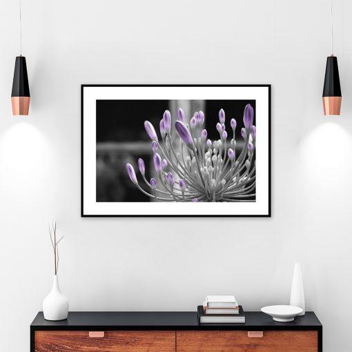 wzór kwiatowy na plakacie