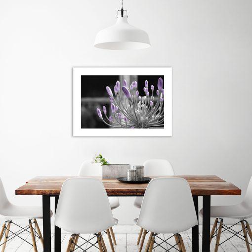 wzór roślinny na plakacie