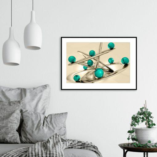 plakat z abstrakcyjnym wzornictwem