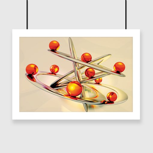 plakat pomarańczowe kule
