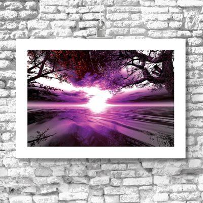 plakat fioletowe niebo