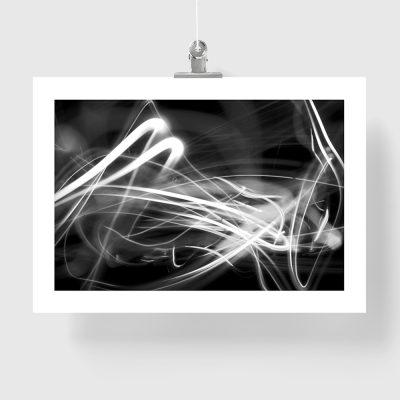 plakat abstrakcyjny czarno-biały