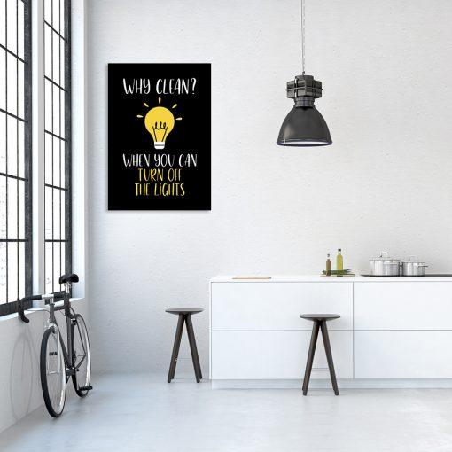 czarny plakat z żółtymi elementami