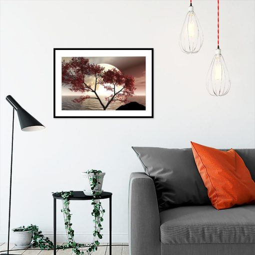 plakat samotne drzewo