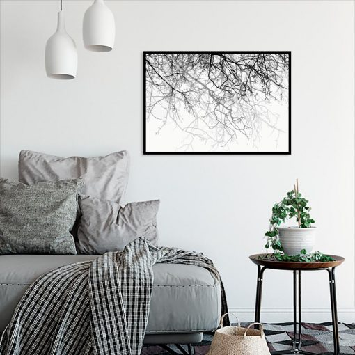 plakat z motywem gałązek drzewa