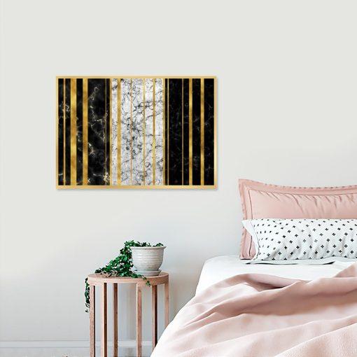 plakat ze wzorem abstrakcyjnym