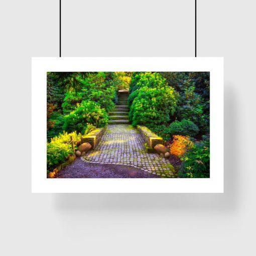 kolorowy plakat park schody