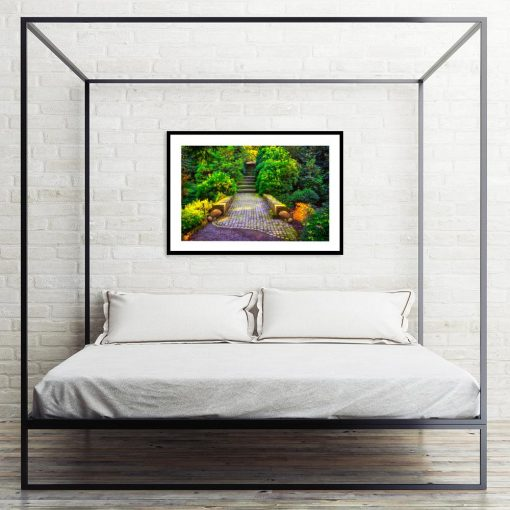 plakat do sypialni z roślinnością