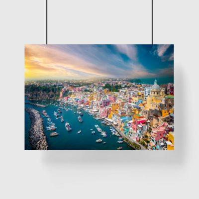 plakat krajobraz Włoch