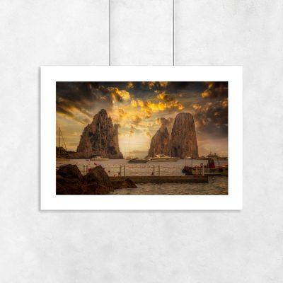 plakat widok na Włoską wyspę