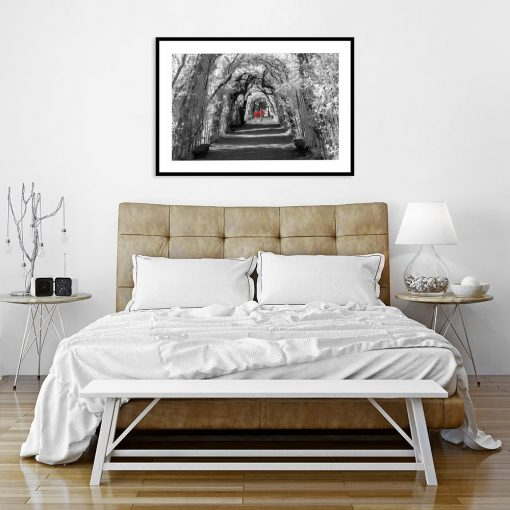 plakat do sypialni para na spacerze