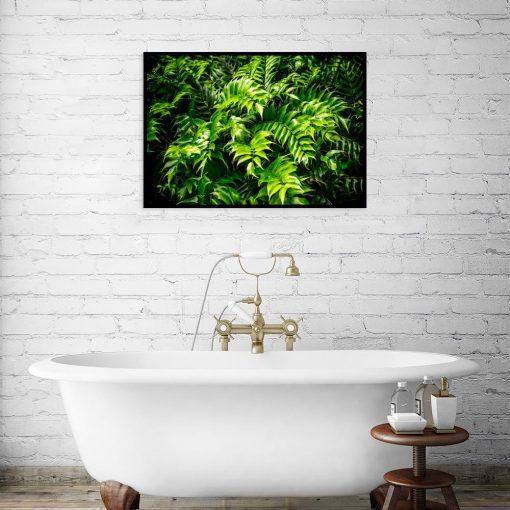 zielony plakat do wc