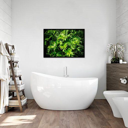 plakat z motywem roślin do wc