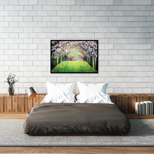 plakat drzewa zielona trawa
