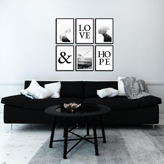 plakaty do skandynawskiego salonu