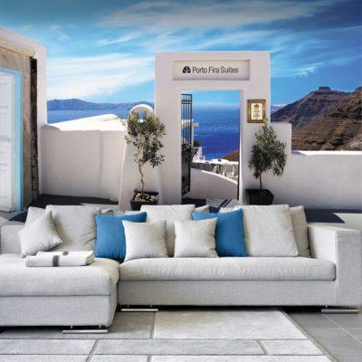 fototapeta z panoramą Grecji