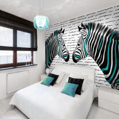 fototapeta do sypialni z zebrą