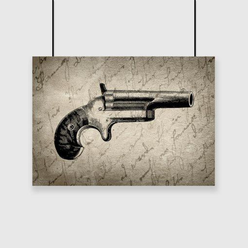plakat z bronią