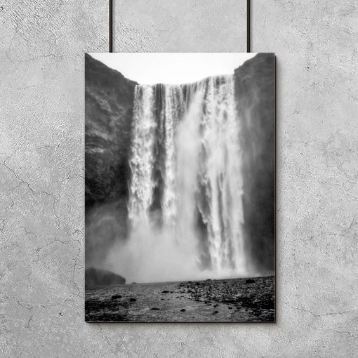 plakat z motywem wodospadu