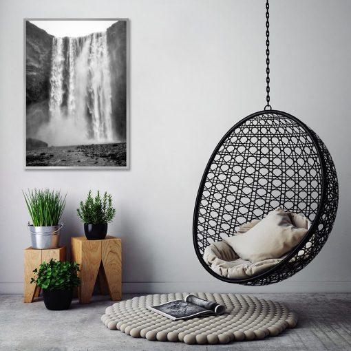 plakat przedstawiający naturę do salonu